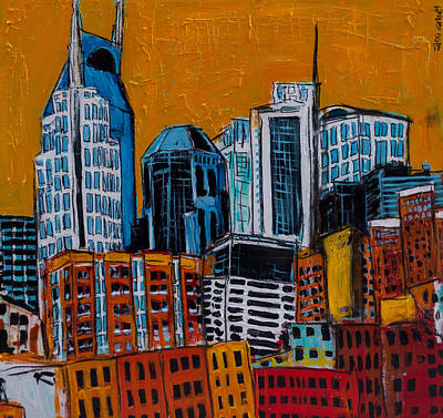 Nashville Skyline Painting - Nashville by Karl Haglund