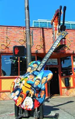 Nashville Legends Guitar Art Print by Dan Sproul