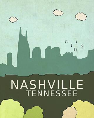 Tn Painting - Nashville by Lisa Barbero