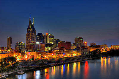 Nashville Lit Up Art Print by Zachary Cox