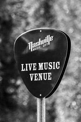 Nashville Music City Sign Art Print by Debbie Green