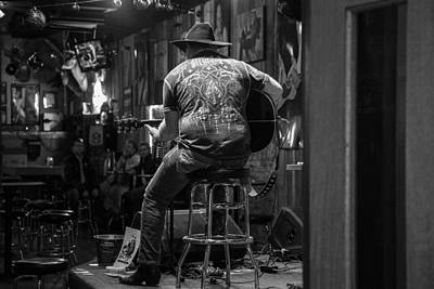 Photograph - Nashville Musician Black And White by John McGraw