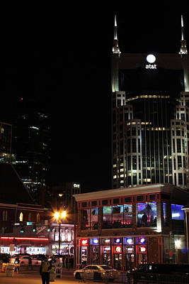 Downtown Photograph - Nashville Nights by Steven Newsom