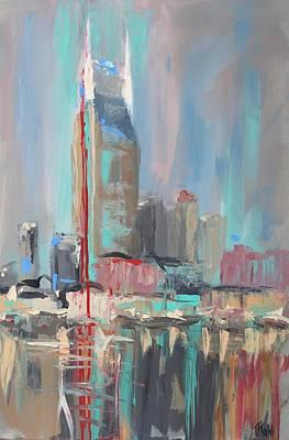 Nashville Building Painting - Nashville Nights by Thalia Kahl