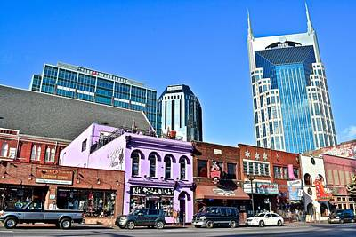 Photograph - Nashville On The Strip by Frozen in Time Fine Art Photography