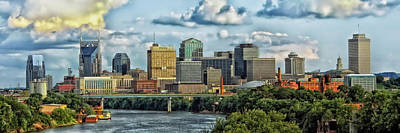 Downtown Nashville Photograph - Nashville Panorama by Pixabay