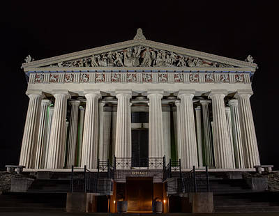 Photograph - Nashville Parthenon At Night by Joshua House