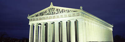 Nashville Parthenon At Night Art Print