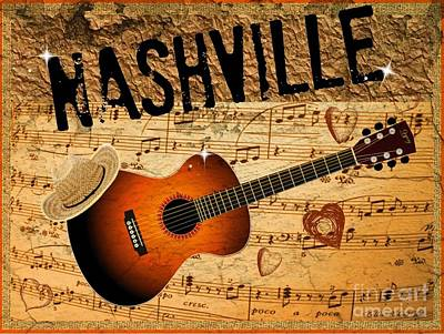 Photograph - Nashville Poster Tribute by Bobbee Rickard