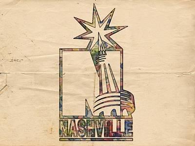 Stanley Cup Painting - Nashville Predators Logo Vintage by Florian Rodarte