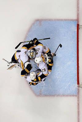 Photograph - Nashville Predators V Anaheim Ducks - by Sean M. Haffey