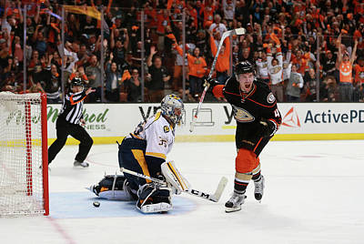 Photograph - Nashville Predators V Anaheim Ducks - by Victor Decolongon