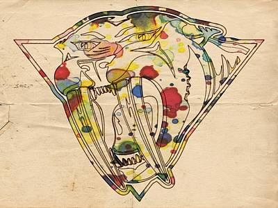 Painting - Nashville Predators Vintage Poster by Florian Rodarte