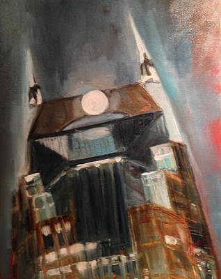 Downtown Nashville Painting - Nashville Rises by Wendi Strauch Mahoney