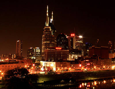 Photograph - Nashville Riverfront by Robert Hebert