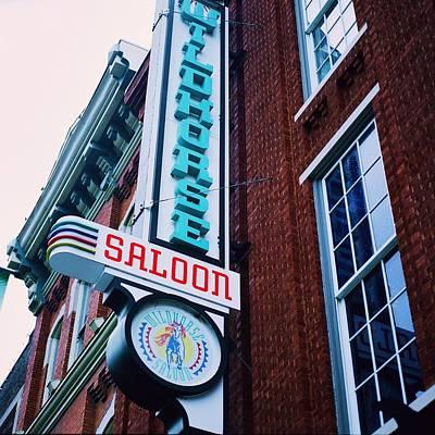Violin Digital Art - Nashville Saloon by Linda Unger