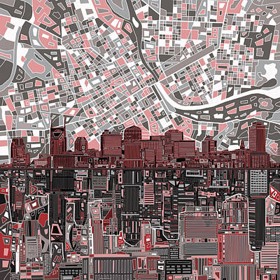 Nashville Skyline Abstract 3 Art Print
