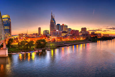 Downtown Nashville Photograph - Nashville Skyline by Brett Engle