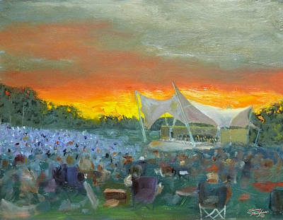 Nashville Park Painting - Nashville Symphony At Crockett Park by Tommy Thompson