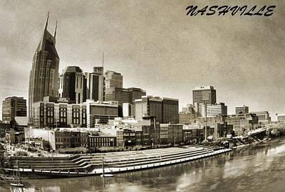 Nashville Skyline Photograph - Nashville Tennessee by Dan Sproul