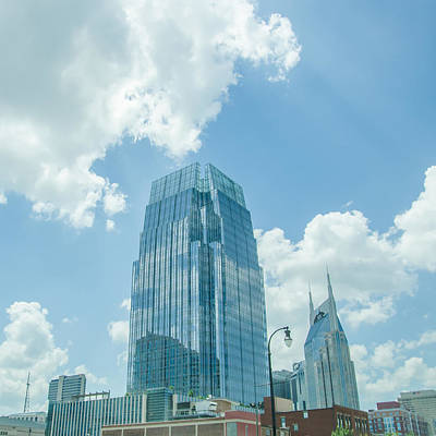 Photograph - Nashville Tennessee Downtown Skyline And Streets by Alex Grichenko