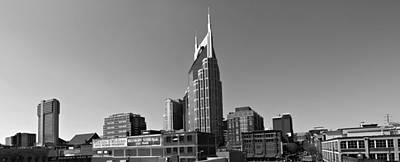 Downtown Nashville Photograph - Nashville Tennessee Skyline Black And White by Dan Sproul