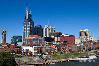 Photograph - Nashville Tennessee Skyline by Steven Frame