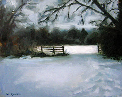 Painting - Nashville's Winter Morning by Erin Rickelton