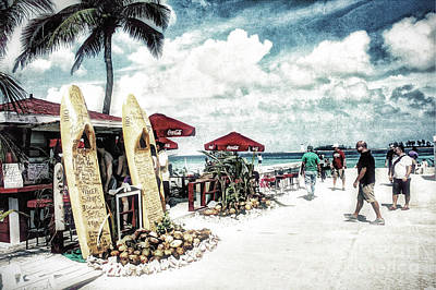Art Print featuring the photograph Nassau Beach by Gina Cormier