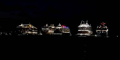 Photograph - Nassau Cruise Ships by Keith Stokes