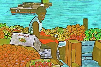 Nassau Fruit Seller Art Print by Frank Hunter