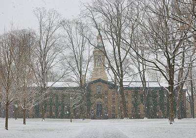 Princeton Photograph - Nassau Hall Princeton In Snow by Steven Richman