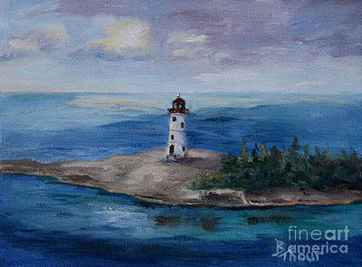 Painting - Nassau Harbour Lighthouse by Brenda Thour