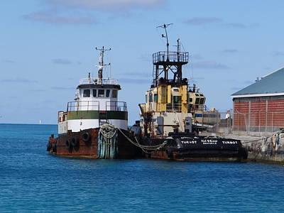 Photograph - Nassau Tugboats by Keith Stokes
