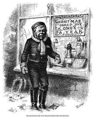 Crying Boy Painting - Nast Christmas, 1881 by Granger
