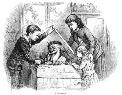 Santa Claus Painting - Nast Christmas, 1885 by Granger