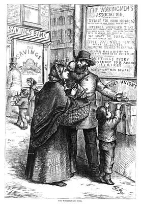 Saving Painting - Nast Labor Union, 1871 by Granger