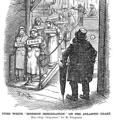 Nast Mormon Cartoon, 1882 Art Print by Granger