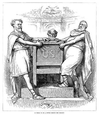 Nast Painting - Nast Power Struggle, 1881 by Granger