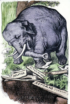 Republican Party Painting - Nast Republican Elephant by Granger