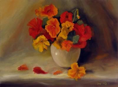 Painting - Nasturtiums by George Tuffy