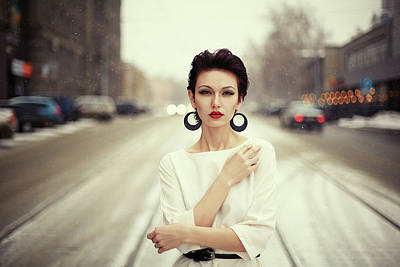 Earrings Photograph - Nastya by Oleg Bagmutskiy