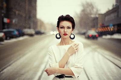 Winter Roads Photograph - Nastya by Oleg Bagmutskiy