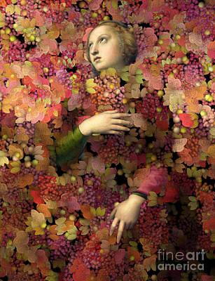 Digital Art - Natalia - Des Femmes Et Des Fleurs 02 by Aimelle