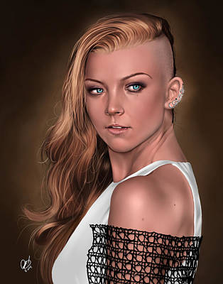 Painting - Natalie by Pete Tapang