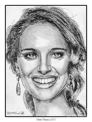 Drawing - Natalie Portman In 2011 by J McCombie
