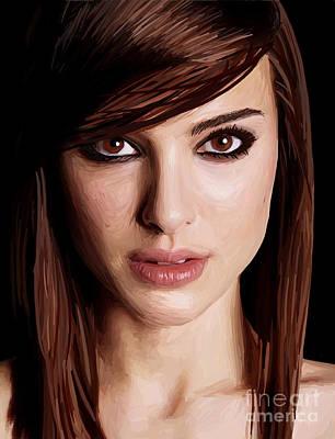 Natalie Portman Art Print by Kyle Walker