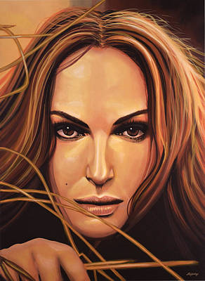 Natalie Portman Art Print by Paul Meijering