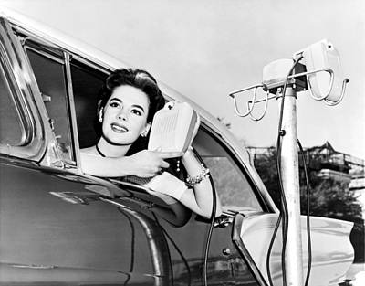 Natalie Wood At A Drive-in Art Print