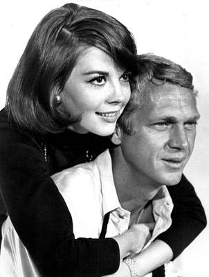 Career Photograph - Natalie Wood With Steve Mcqueen by Retro Images Archive